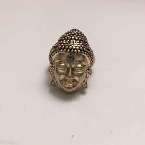 Buddha head ring.